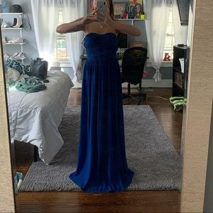 Lulus dress royal blue, long and worn once!